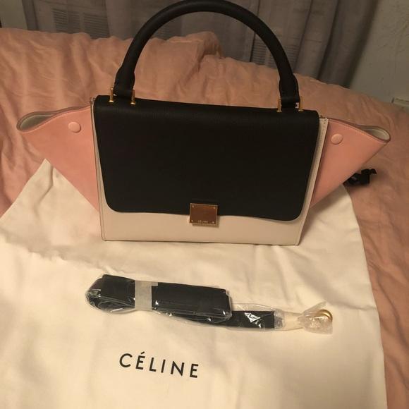 f0083b3bcb94 Celine Handbags - Celine Trapeze Tricolor Small Handbag